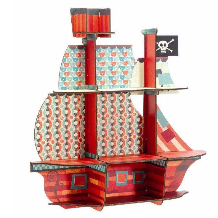 DJECO Regal Piratenschiff aus der Kollektion little BIG room - Bonuspunkte sammeln, Kauf auf Rechnung, DHL Blitzlieferung!
