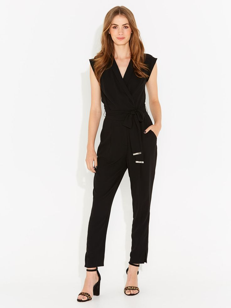 Tie Waist Wrap Front Jumpsuit from Portmans