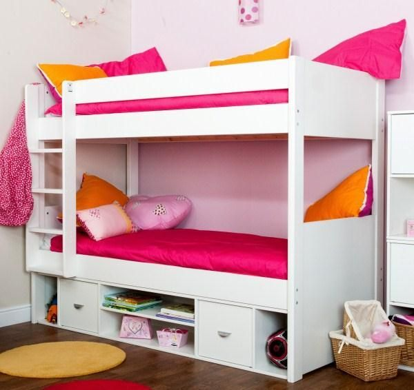 Uno White Storage Bunk Bed