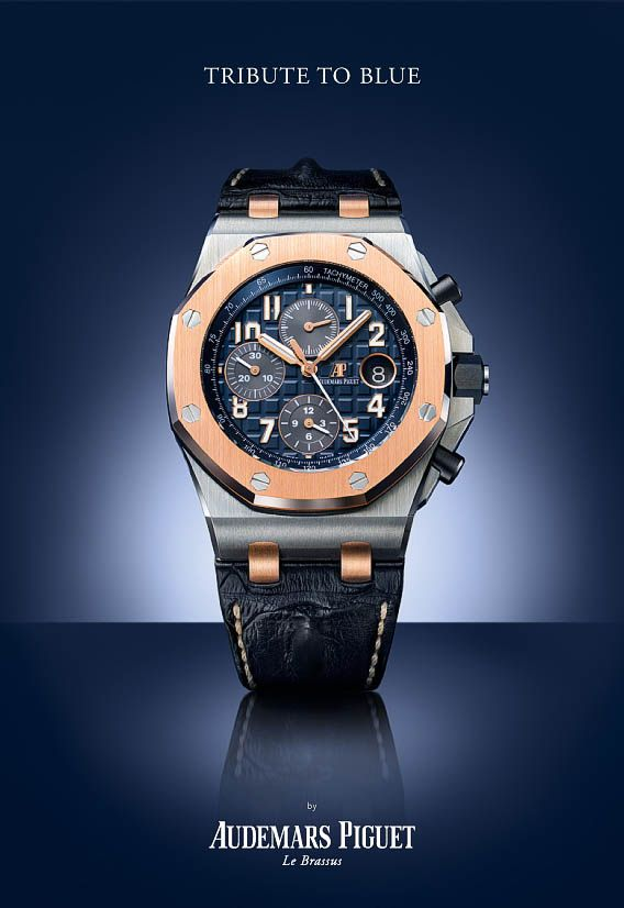 Audemars Piguet Royal Oak Chronograph - Bucherer Tribute to Blue - Perpetuelle