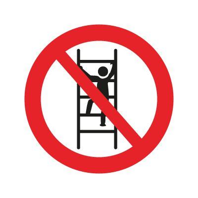 Forbudt at klatre i reolerne - Køb forbudsskilte