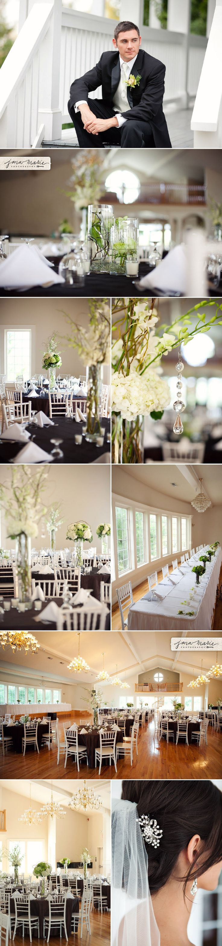 hawthorne house/ black and white is a classic wedding choice. #DonnaMorganEngaged