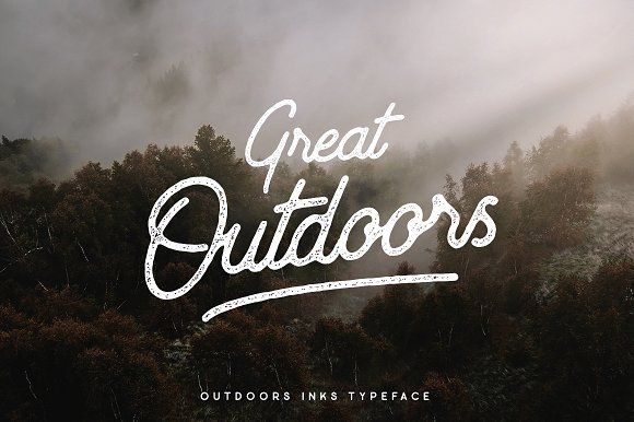 Outdoors Inks Typeface - 4 Styles by pratamaydh on @creativemarket