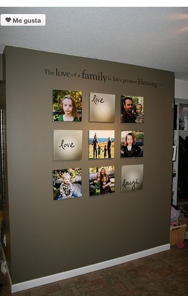 Im soooo creating this wall in my house! Obvs with pictures of my family....
