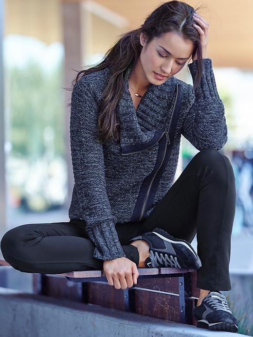 Athleta Chill Textured Sweater Jacket | #FuelTheJoy