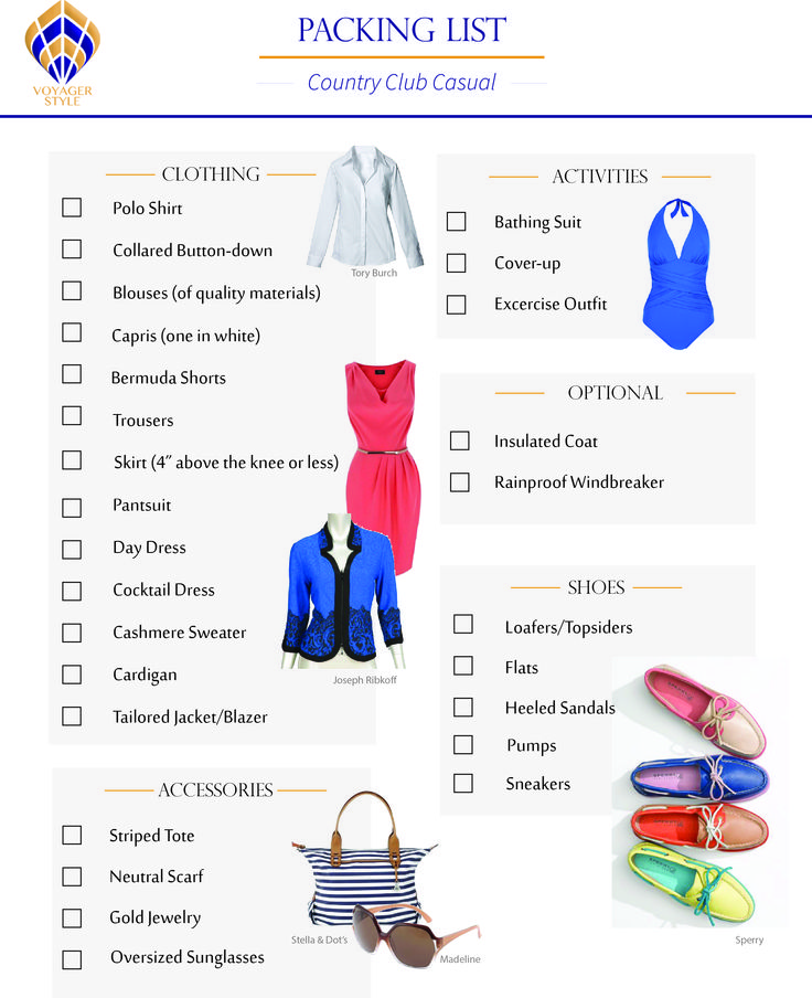 Voyager Style – Packing List: Country Club Casual