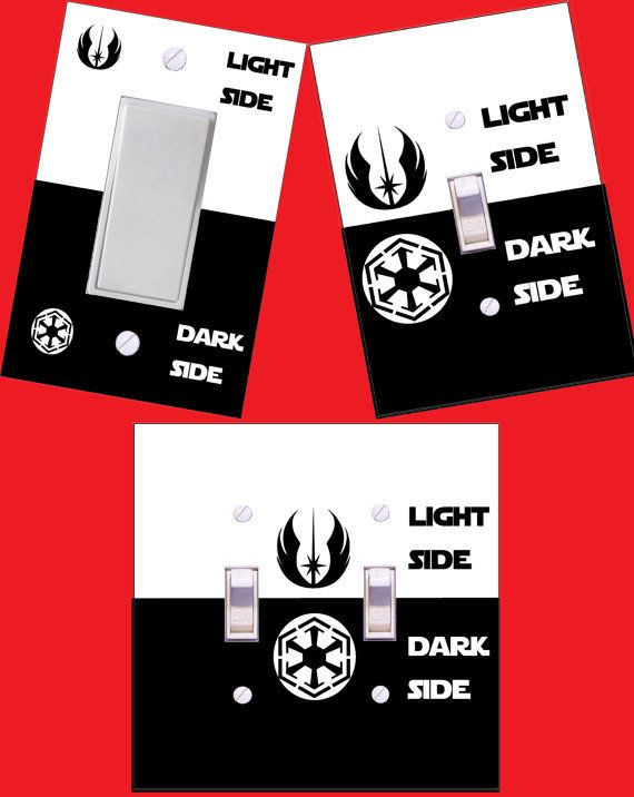 Star Wars light switch cover light side or dark side ITEM DESCRIPTION- These are custom made decoupage light switch covers. They are hand