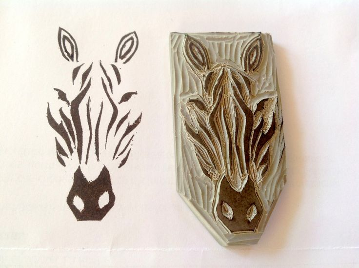 Zebra carved by Robyn GortonUndefined Stampin, Stamps Carvings, Robyn Gorton, Zebras Carvings, Carvings Stamps, Undefined Stamps, Undefined Kits, Kits Stampin, Carvings Kits