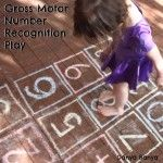 Gross Motor Number Recognition Game - Jump Into Learning: Kinesthetic Learning Activities -  - pinned by @PediaStaff – Please Visit ht.ly/63sNtfor all our pediatric therapy pins
