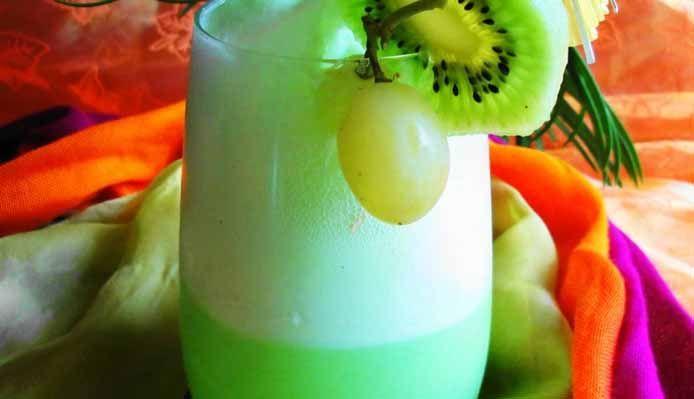 Surinaams eten – Evergreen Shake (fruitpunch shake van groene vruchten)