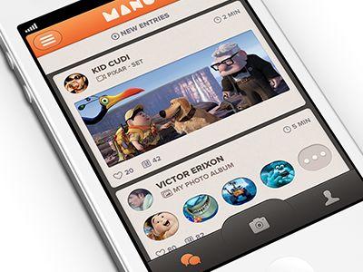 Dribbble - New iOS App Mano by Victor Erixon: Ios App, Design Mobile, Mobiles App, App Scrnshot, 2009 2014 Dribbbl, Apps Design, App Mano, Ios Layout, App Design