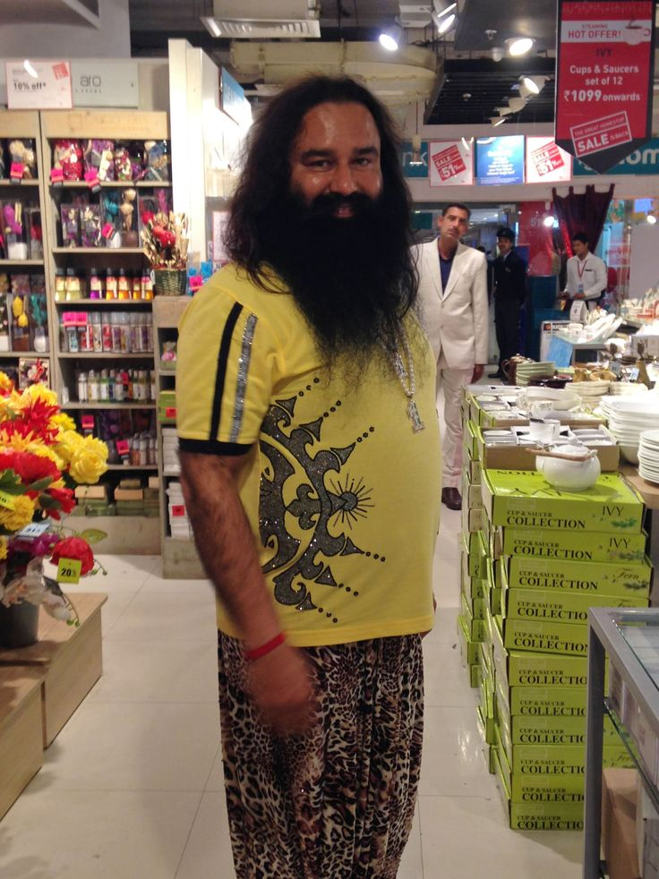 Indian spiritual guru Gurmeet Ram Rahim -- seen here on January 5, 2015 -- heads the Dera Sacha Saud... - Provided by AFP