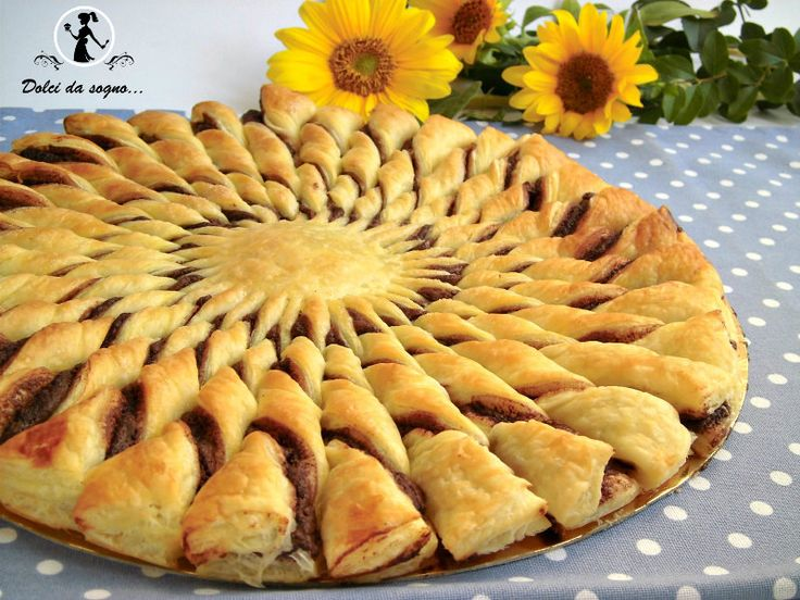 """torta girasole di pasta sfoglia e nutella - """"Sunflower"""" nutella puff pastry pie!"""
