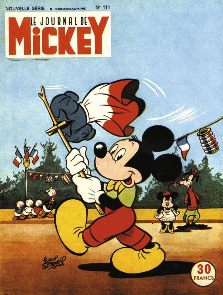 Le tout premier Journal de Mickey, le 21 octobre 1934