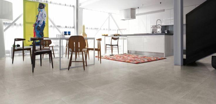 Baldosa de suelo / de gres porcelánico / pulida / aspecto hormigón NR.21 : CEMENTO LAPPATO VIVA Ceramica