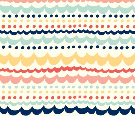 Scallop_Fun fabric by stacyiesthsu on Spoonflower - custom fabric:
