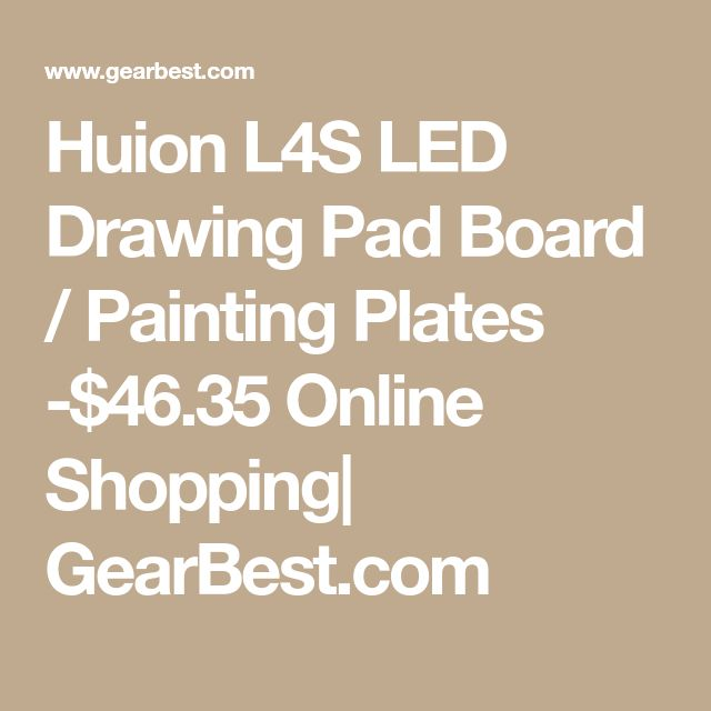 Huion L4S LED Drawing Pad Board / Painting Plates -$46.35 Online Shopping| GearBest.com