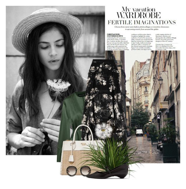 """Vacation Wardrobe"" by beautifulplace ❤ liked on Polyvore featuring Børn, Michael Lo Sordo, Erdem, Prada, Gucci and Fabrizio Viti"