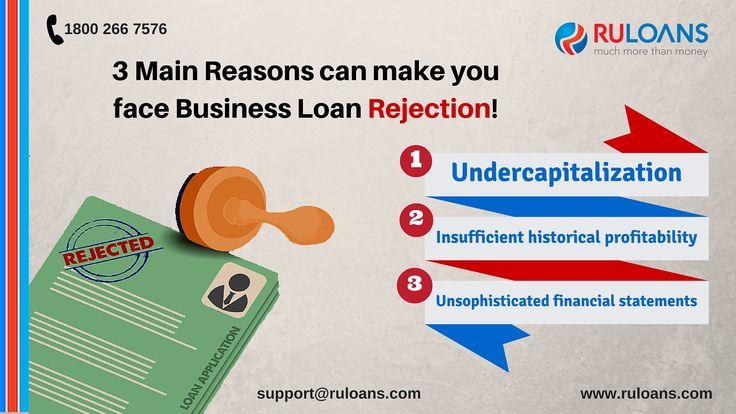 Business Loan - Ruloans 3 Main reasons can make you face business loan rejection!
