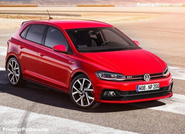 Volkswagen Polo GTI 2018 poster, #poster, #mousepad, #tshirt, #printcarposter