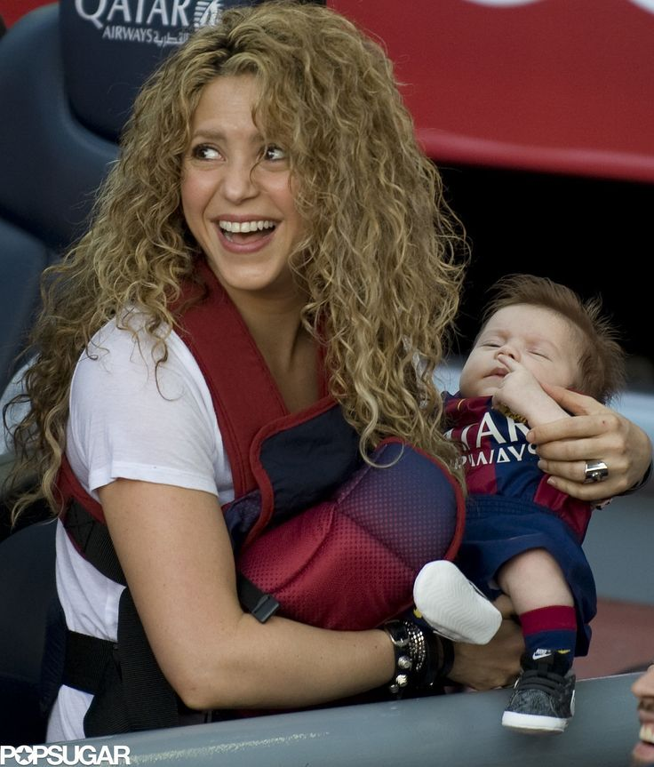 Shakira Brings the Kids to Cheer For Gerard Piqué