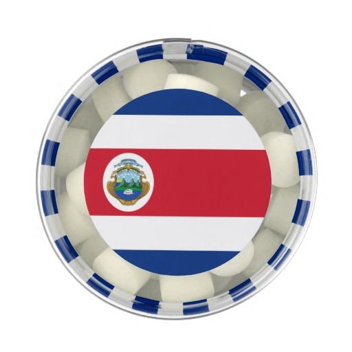 Costa Rican flag Chewing Gum Favors
