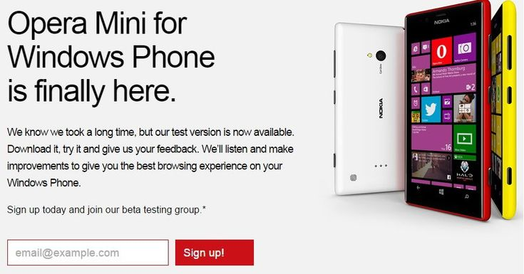 Opera Mini For Windows Phone Enters Into Public Beta http://www.ubergizmo.com/2014/09/opera-mini-for-windows-phone-enters-into-public-beta/