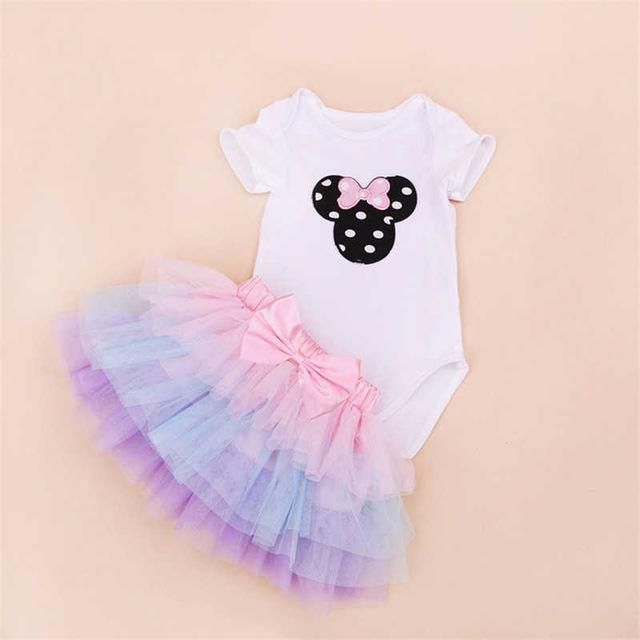 6afc8a254254 Tutu Baby Birthday Set Summer Short Sleeve Roupas Infantis Bebe 1st Bi –  FineFineBabe