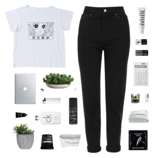 """""""cause sometimes to stay alive, you've got to kill your mind"""" by moonlight-baby ❤ liked on Polyvore featuring Topshop, MILK MAKEUP, Calvin Klein, Frette, NARS Cosmetics, Living Proof, Lux-Art Silks, Muji, TokyoMilk and Christian Dior"""