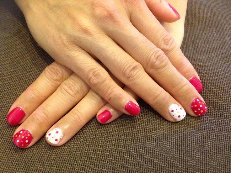 Precious wild cherry polka dots