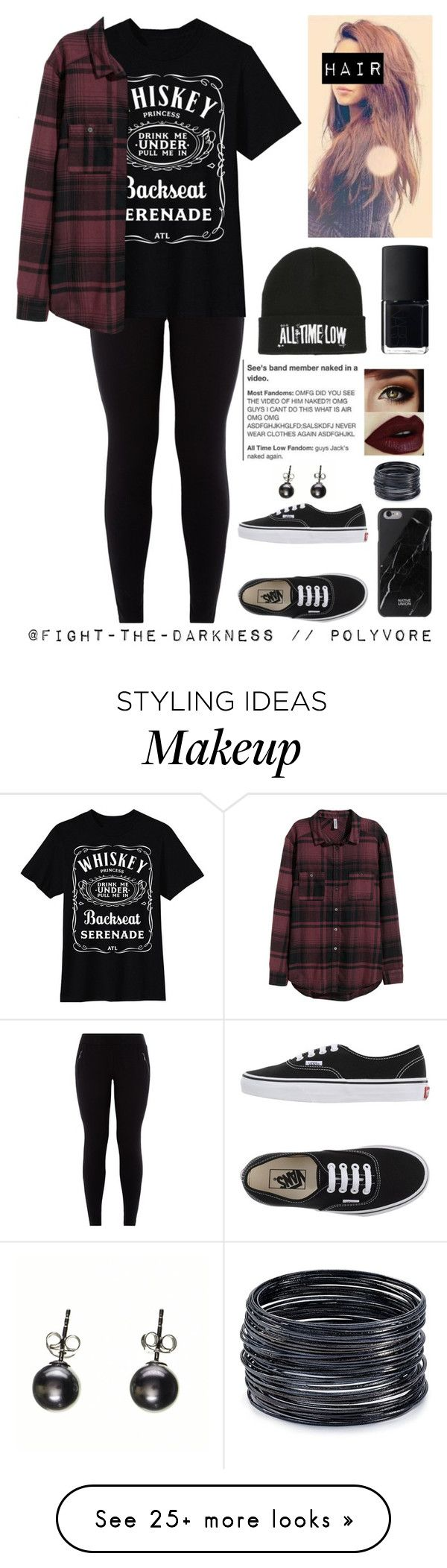 """...Whiskey Princess,Drink Me Under,Pull Me In..."" by fight-the-darkness on Polyvore featuring Vans, ABS by Allen Schwartz, H&M, Native Union and NARS Cosmetics"