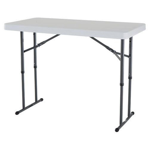 purchase the famous lifetime 4 ft adjustable height folding table buy securely online here today