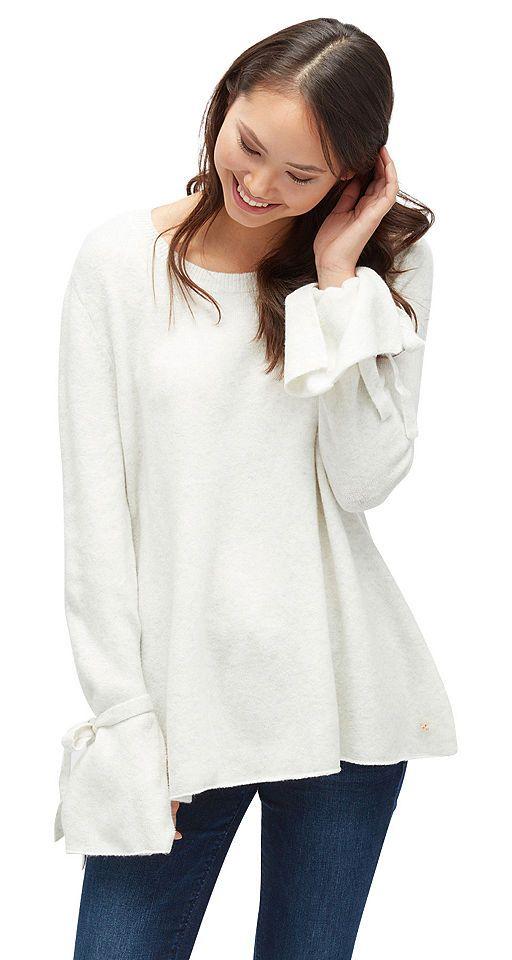 Tom Tailor Denim Longpullover »Pullover mit Bindeband am Ärmel« Jetzt bestellen unter: https://mode.ladendirekt.de/damen/bekleidung/pullover/longpullover/?uid=21260b5d-4f58-554d-8854-1b53dcdda9aa&utm_source=pinterest&utm_medium=pin&utm_campaign=boards #longpullover #pullover #bekleidung