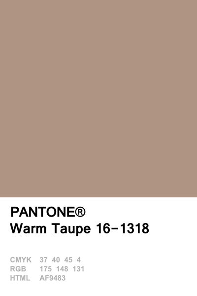 Pantone Fall 2016 • Warm Taupe