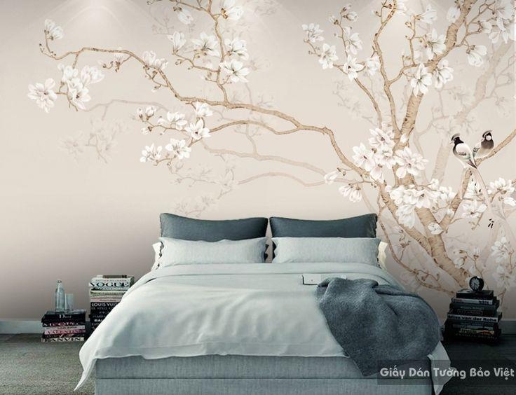 Giấy dán tường phòng ngủ 3D H076 | Giấy dán tường Bảo Việt
