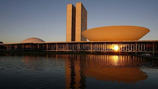 Brazil's National Congress, designed by Oscar Niemeyer and inaugurated in 1960.