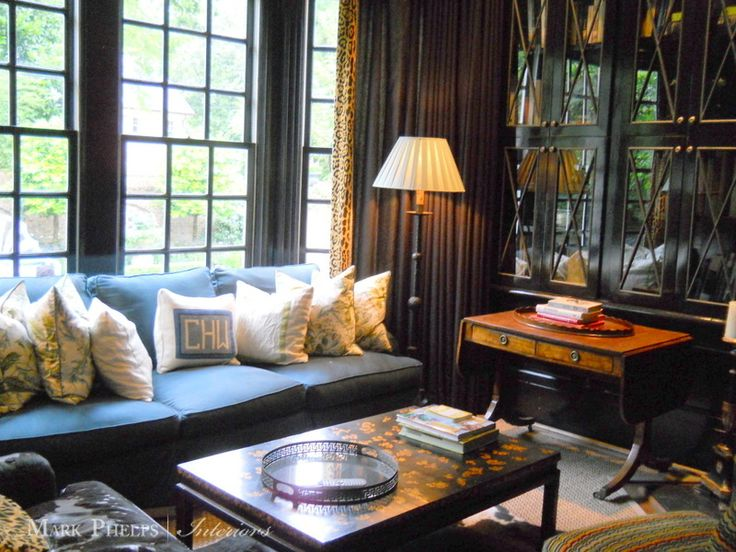 Mark Phelps Interiors Library Bookcases Interior Design Charlotte NC