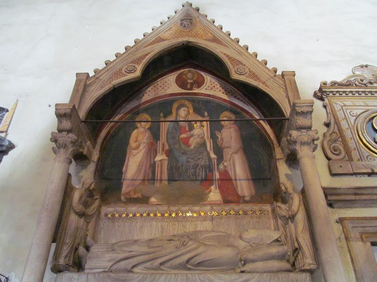 Гробница кардинала Маттео д'Акваспарта, упоминаемого Данте в XII песни Рая. Фрески принадлежат Каваллини. Santa Maria in Ara Coeli, Рим.
