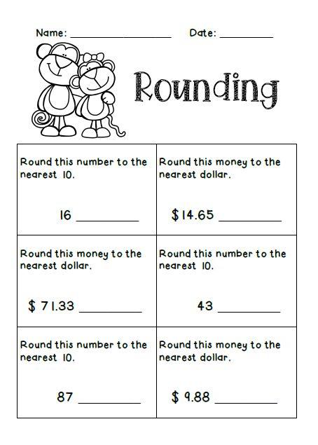 Best 25+ Rounding worksheets ideas on Pinterest   Rounding, Math ...