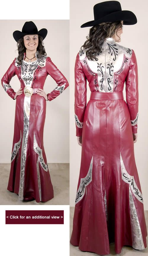 Rodeo Queen Clothes for Sale | Royal metallic leather with silver metallic yoke and black laser lace ...