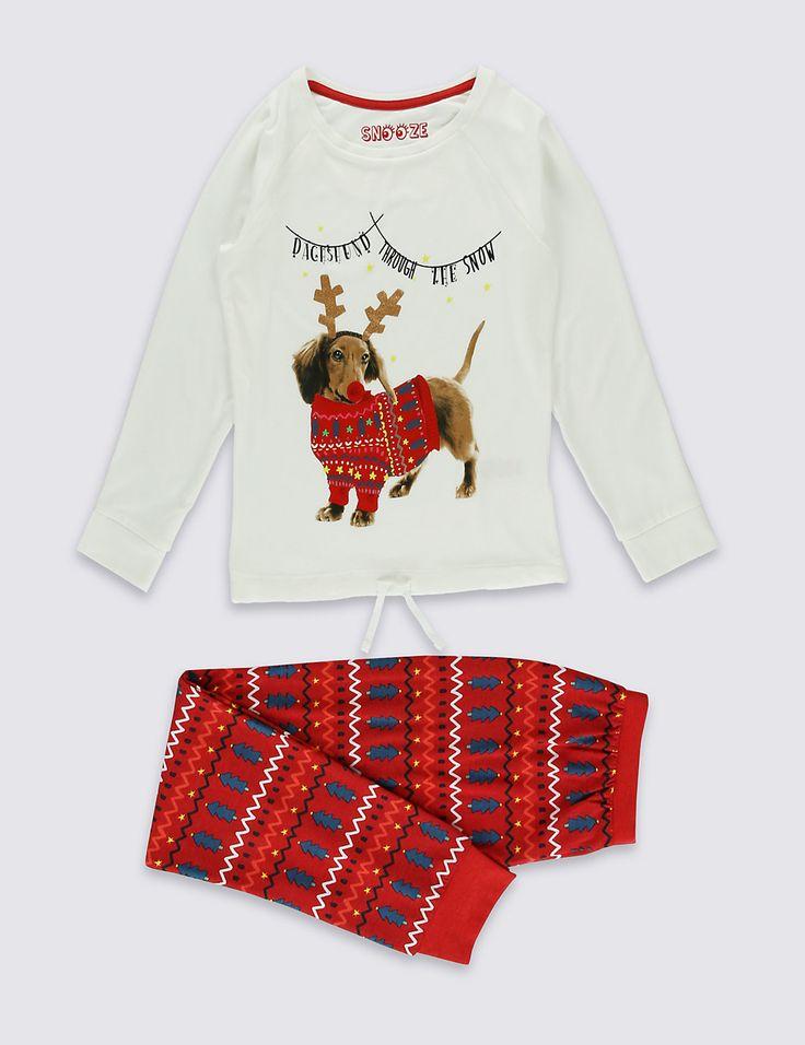 Rudolf Dog Long Sleeve Pyjamas (6-16 Years)