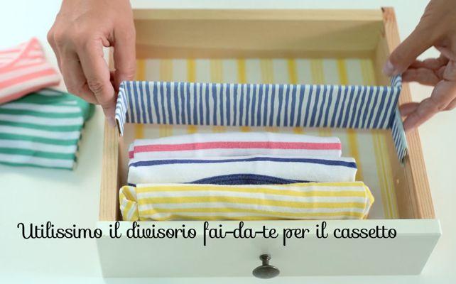 Magliette, felpe, pigiami: se li pieghi bene, li organizzi e li trovi meglio!