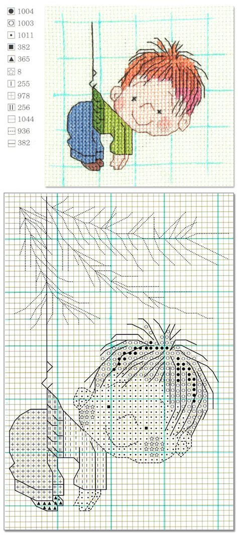 cross stitch cute boy | Welcome Craft