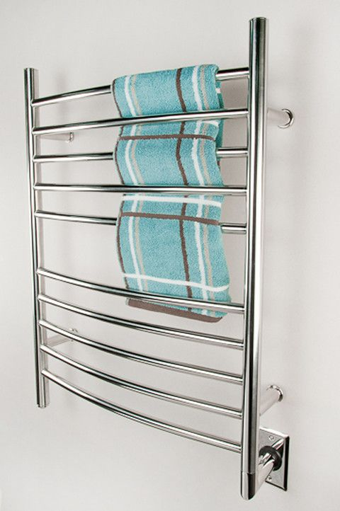 "One of our Bestselling towel warmer! Amba Radiant Curved Hardwired Mounted Towel Warmers - 23.75""w x 31.5""h"