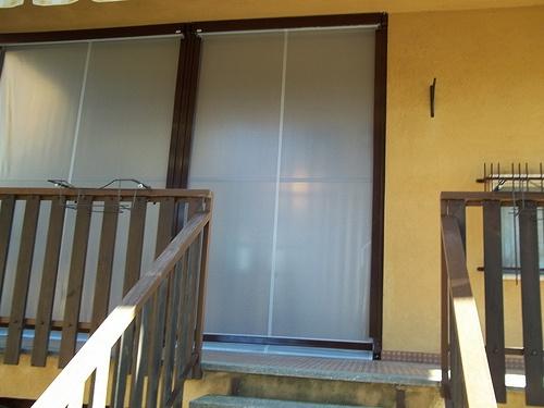 Tenda veranda invernale ermetica con frangivento e tessuto VINITEX retinato antingiallimento Torino www.mftendedasoletorino (14)