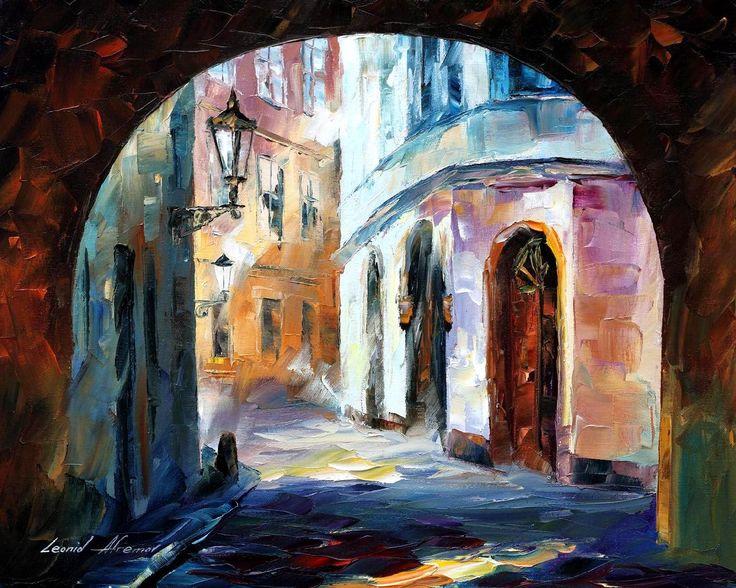 OLD TOWN - PALETTE KNIFE Oil Painting On Canvas By Leonid Afremov - http://afremov.com/OLD-TOWN-PALETTE-KNIFE-Oil-Painting-On-Canvas-By-Leonid-Afremov-Size-16-x20.html?utm_source=s-pinterest&utm_medium=/afremov_usa&utm_campaign=ADD-YOUR