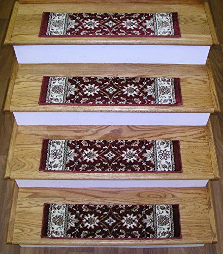891004  Premium Stair Tread Set of 13 Treads  26 x 75  Como Collection  Radici Como 1592 Red  Rug Depot Traditional Stair Runner Treads  Red Background  Set of 13 Stair Treads  100 Olefin Premium Carpet Stair Runner Treads  Less Than 500000 Points  T4 Quality Rating  Stair Treads with Matching Area Rugs Hall Runners Round Rugs and Stair Runners *** You can find more details by visiting the image link.