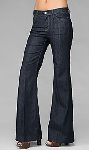 7 For All Mankind Ginger Women's Wide leg Trousers Dark Wash Jeans Sz 31 #7ForAllMankind #WideLeg
