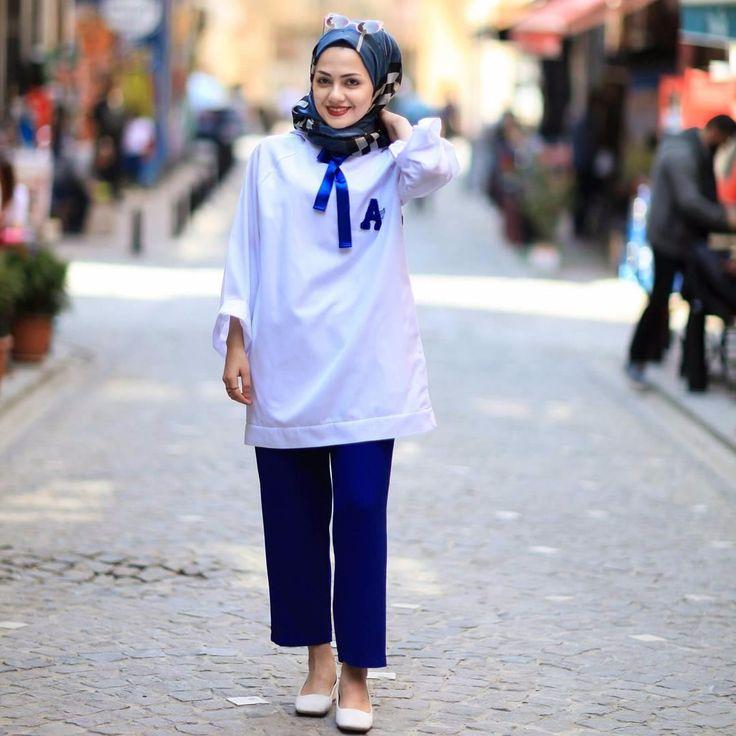 White/Blue Tunic