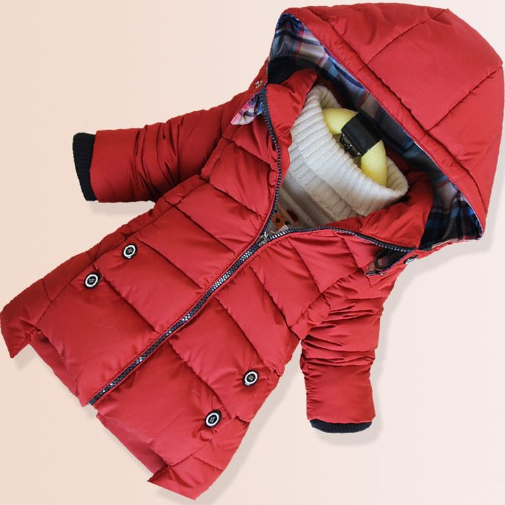 (34.06$)  Know more  - New Baby Boys Padded Jacket Boys Warm Coats Winter Jacket Children Parka Clothing Winter Boy Christmas Removable Hooded Snowsuit